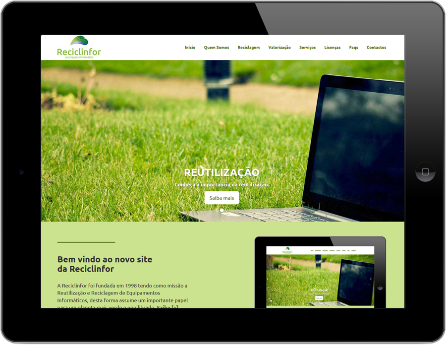 ipad com site Reciclinfor
